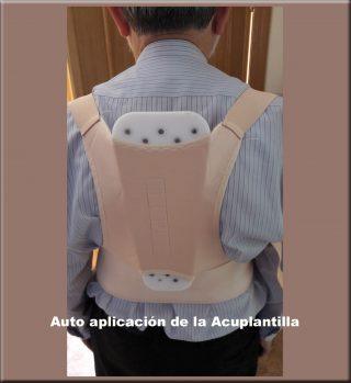 Acuplantilla en la espalda