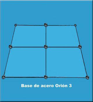 Base de acero Orión 3